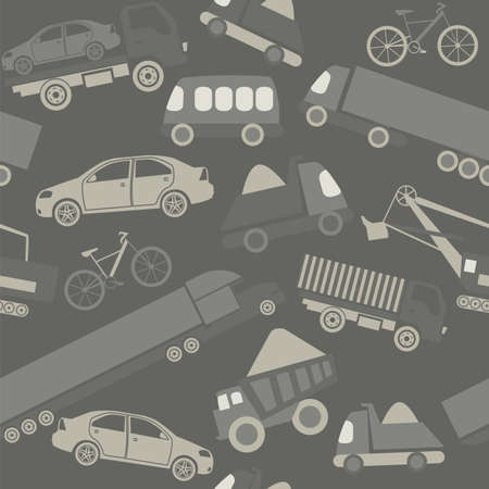 Car service and some types of transportation background.  Vector