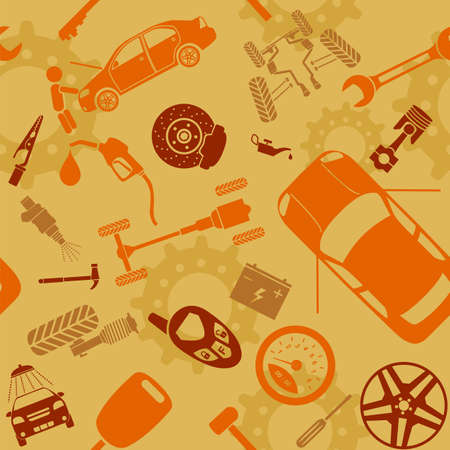 Car service and some types of transportation background. Vector illustration  Vector