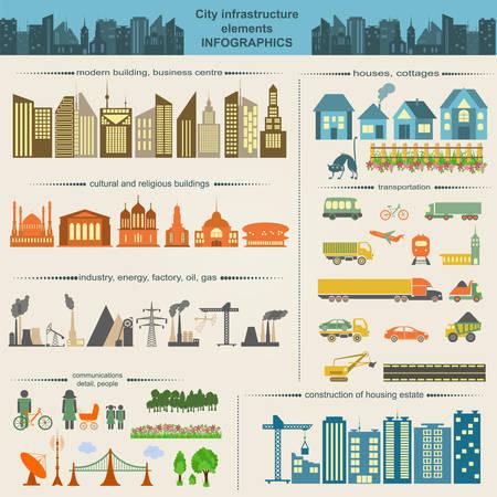 Reihe von modernen Stadtelemente für die Erstellung eigener Karten der Stadt. Infografik. Vektor-Illustration Standard-Bild - 30027088
