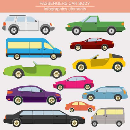 car transportation: Passenger car, transportation infographics.  Vector illustration