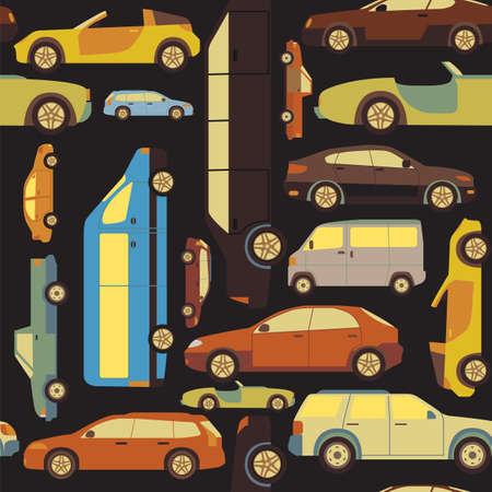 Passenger car background, seamless. Vector illustration Vector