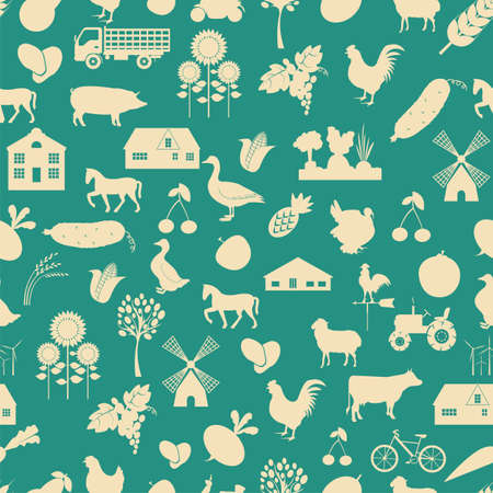 Agriculture background, seamless. Vector illustration Vector