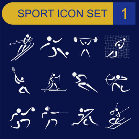 Sport icon set. Flat style. Vector illustration Vector