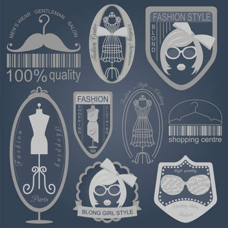 Set of vintage fashion and clothes style icon Vector