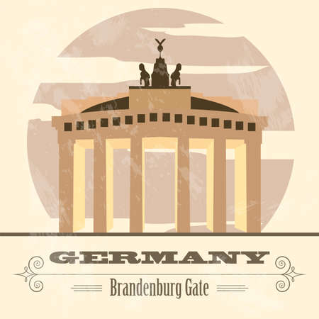 country church: Germany landmarks. Retro styled image. Vector illustration Illustration