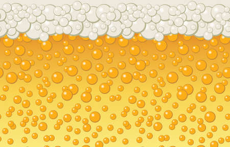 Beer bubbles background. Vector illustration  イラスト・ベクター素材