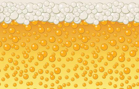 Beer bubbles background. Vector illustration Illustration