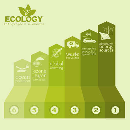 sea pollution: Environment, ecology infographic elements. Environmental risks, ecosystem. Template. Vector illustration