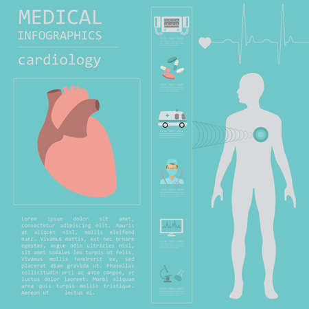 hypertension: Medical and healthcare infographic, Cardiology infographics. Vector illustration