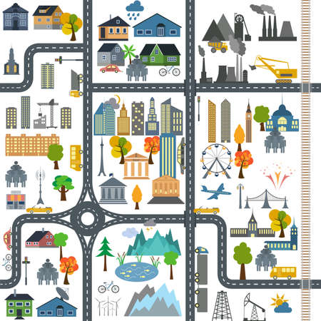 City map generator City map example.  Illustration