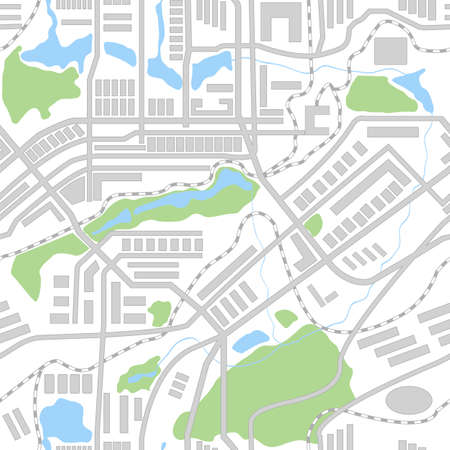 city park: City map seamless pattern.  Illustration