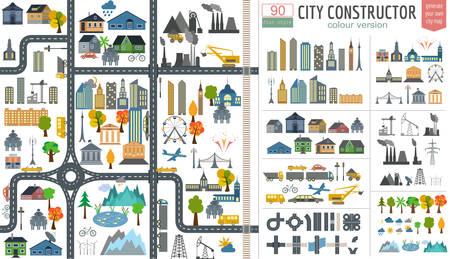 medios de transporte: Mapa de la ciudad generador.