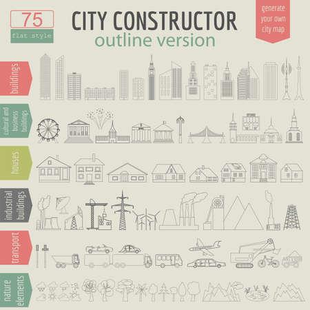 генератор: Карта города генератор. Иллюстрация