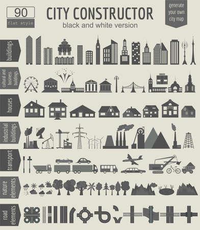 발전기: 도시지도 생성. 일러스트