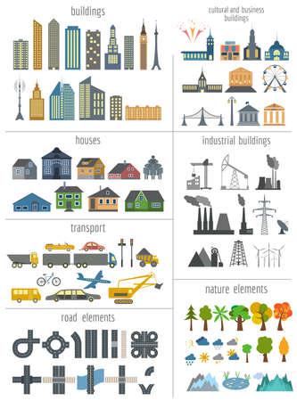 information graphics: City map generator.