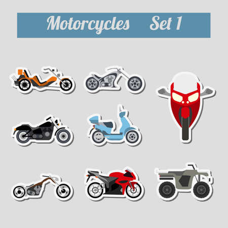 road ring: Set of elements motorcycles for creating your own infographics or maps