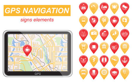 Global Positioning System, navigation. Infographic template. Vector illustration
