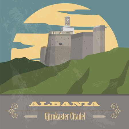 citadel: Albania landmarks. Retro styled image. Vector illustration Illustration