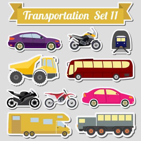Conjunto de todos los tipos de icono de transporte para crear sus propias infografías o mapas. Agua, carretera, urbano, de aire, de carga, público y conjunto de transporte terrestre. Ilustración vectorial Ilustración de vector
