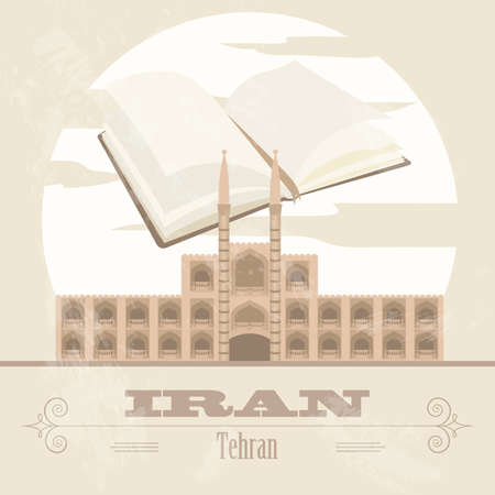 iran: Iran. Retro styled image. Vector illustration Illustration