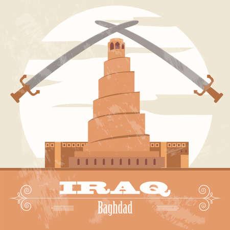 impurity: Iraq. Retro styled image. Vector illustration Illustration
