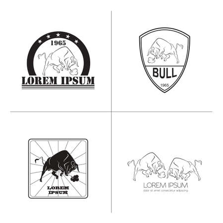 nostrils: Bull logo and badges templates. Vector illustration Illustration