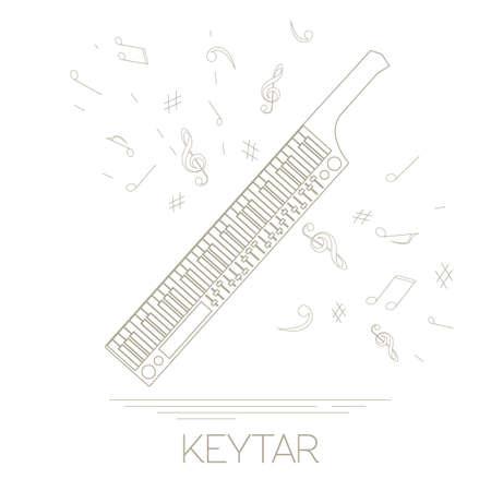 Musical instruments graphic template. Keytar. Vector illustration Illustration