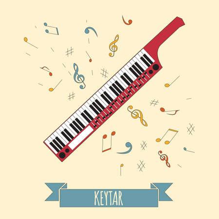 Musikinstrumente Grafik-Vorlage. Keytar. Vektor-Illustration Standard-Bild - 47951822