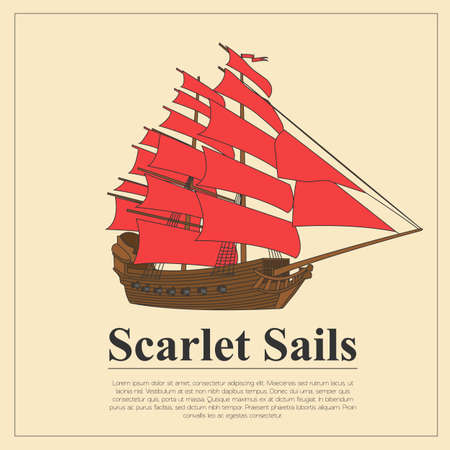 Sailing boat logo. Vector logo template and badge. Vector illustration Illustration