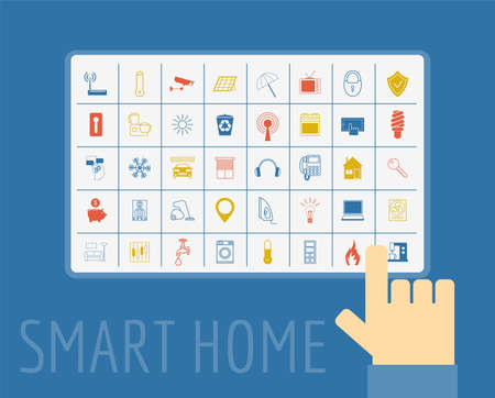 element template: Eco friendly smart house concept. Infographic template. Flat style design. Vector illustration