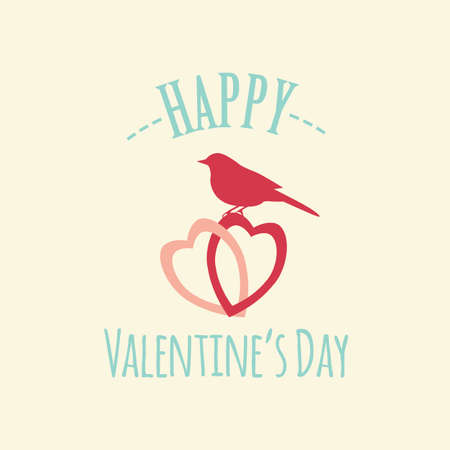 Plantilla de diseño de logotipo día de San Valentín. Los elementos gráficos con corazones, flechas, champán, regalos, flores, aves, diamantes. Ilustración vectorial