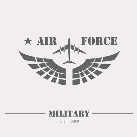 army tank: Military logo and badge. Air force. Graphic template. Vector illustration Illustration