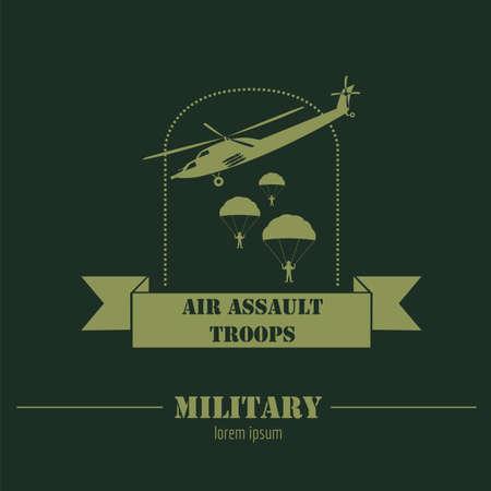 estrellas  de militares: Veh�culos militares y blindados logotipos e insignias. Gr�fico de la plantilla. Ilustraci�n vectorial Vectores