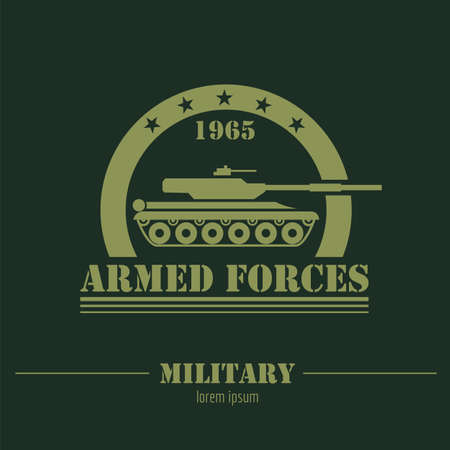 Military logo and badges Graphic template. Vector illustration