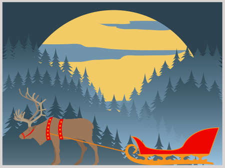 lapland: City buildings graphic template. Lapland. Vector illustration Illustration
