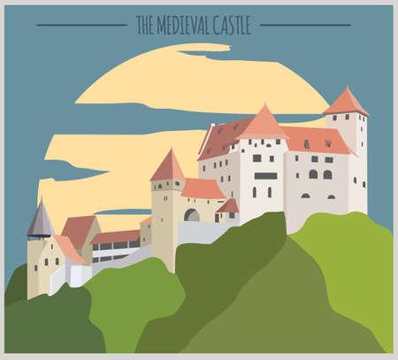 liechtenstein: City buildings graphic template. Liechtenstein. Vector illustration