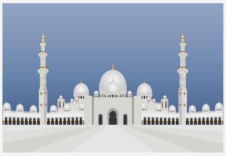 Bâtiments de la Ville de modèle graphique. mosquée UAE. Vector illustration Banque d'images - 54522090