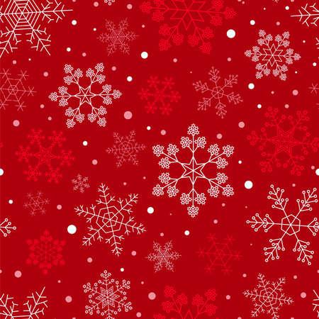 Snowflake seamless pattern. Vintage outline version. Vector illustration Illustration
