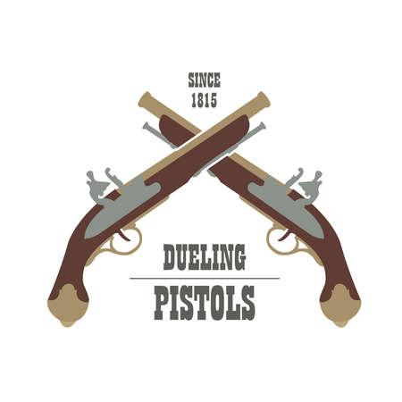 launcher: Firearm template. Guns, rifles badge. Flat design. Vector illustration Illustration