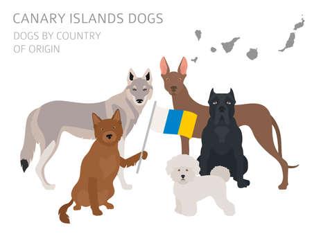 Perros por país de origen Ilustración vectorial