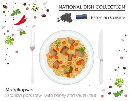 European national dish collection Vector illustration Illustration