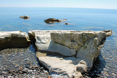 crystal clear: The crystal clear sea Stock Photo