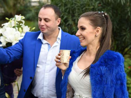 in december: Wedding in December Stock Photo
