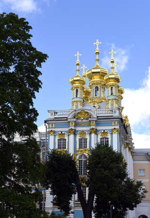 house of god: The old Church, Pushkin, St. Petersburg Stock Photo