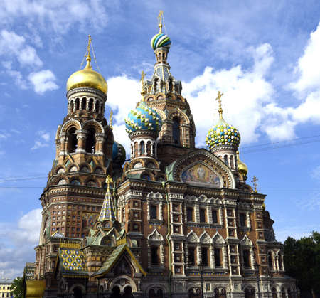 saint petersburg: Saint Petersburg, Russia. The Cathedral of the Savior on spilled blood, built in honor of the murdered Tsar Alexander 2