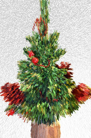 Abstract christmas tree, greeting card background Stock Photo