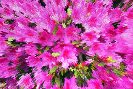 Abstraction, beautiful of stylized tropical pink flowers Stock Photo