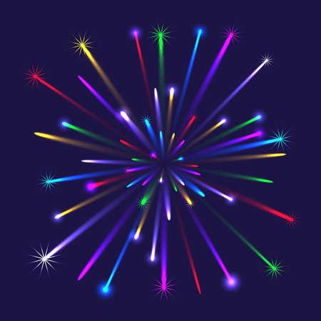 Illustration of colorful fireworks Illustration