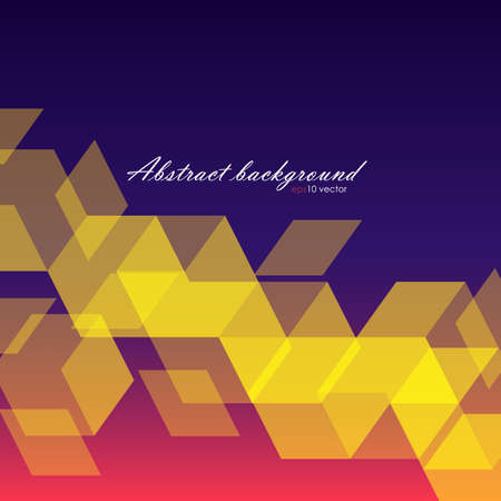 rhomb: Abstrack background of yellow hexagons Illustration