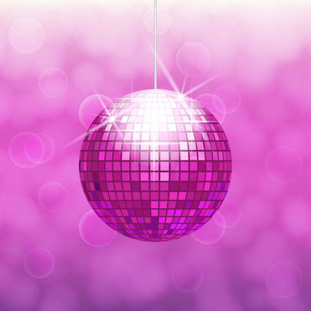Pink disco ball Illustration